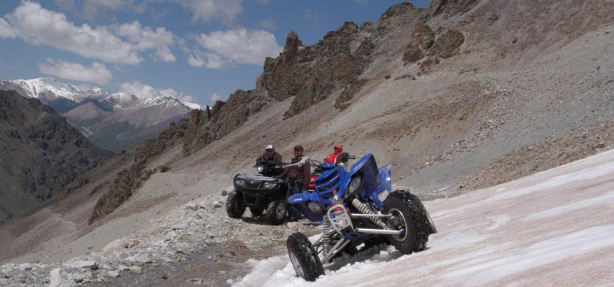 4x4 ATV tour in the Chong Kemin National Park and in the Canyon Konortchok